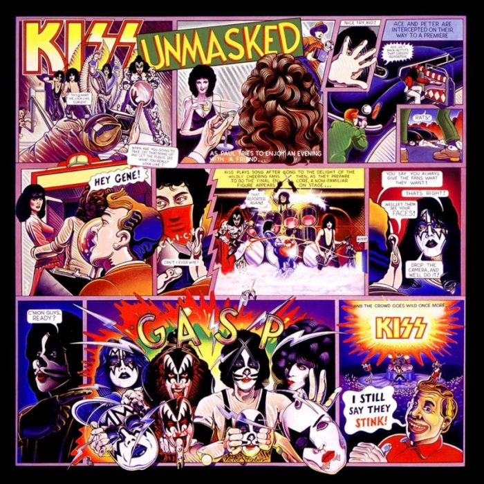 Kiss UnMasked Album Cover by Victor Stabin
