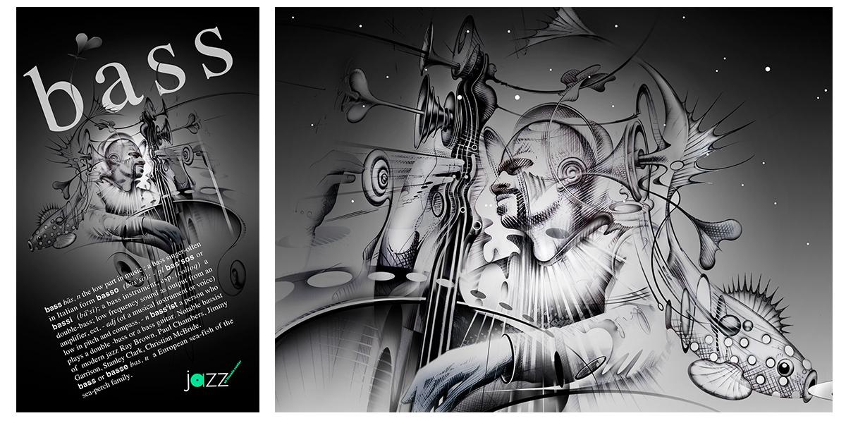 Bass Jazz Poster