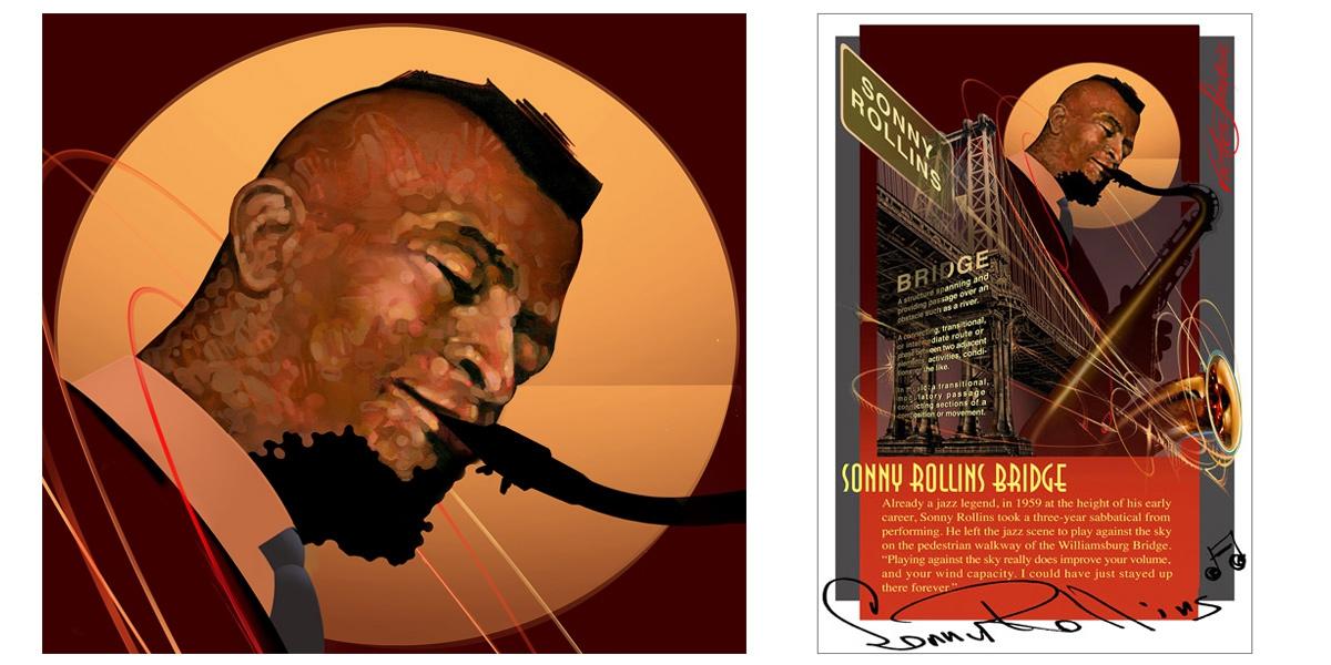 Sonny Rollins Bridge Poster