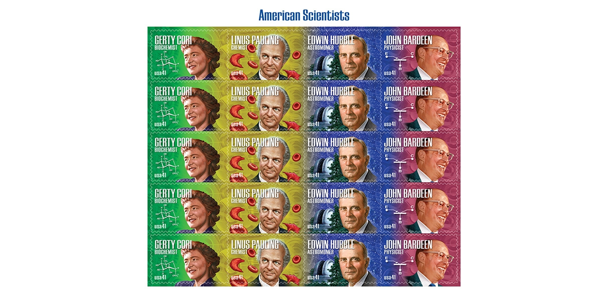 Scientists Stamps